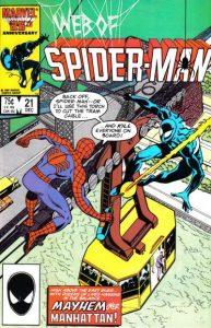 Web of Spider-Man #21 (1986)