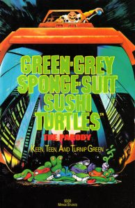 Green-Grey Sponge-Suit Sushi Turtles #[nn] (1990)