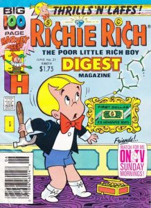 Richie Rich Digest Magazine #21 (1990)