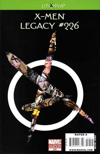 X-Men Legacy #226 2nd Print Variant Edition Marvel Comics CB3752