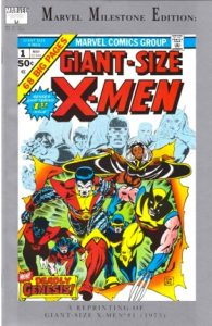 comic cover reprint of X-men #1 with Marvel Milestone Edition written at the top