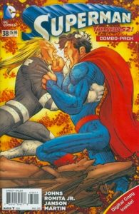 Cover of Superman battling an opponent