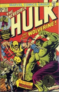 Cover of the Hulk fighting Wolverine