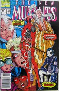 Cover of Deadpool and the new mutants posing on the cover