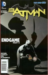 Comic cover of Batman exploring a crime scene. The bar code does not say Direct Sales.
