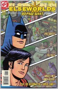 Cover with classic images of batman and superman