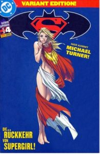 Cover of Supergirl wrapped in her cape