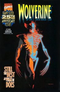 Cover of a transparent Wolverine showing his adamantium skeleton