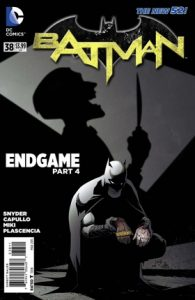 Comic cover of Batman exploring a scene. The Bar Code states Direct Sales.