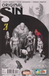 Cover image of Marvel characters standing over a crime scene