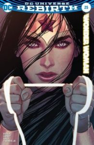 Cover of Wonder Woman holding the lasso of truth
