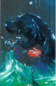 Cover of Batman beating up the Joker