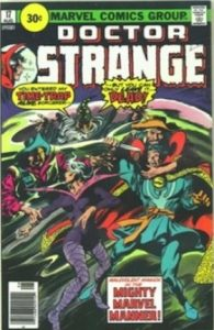 comic cover of Dr. Strange fighting