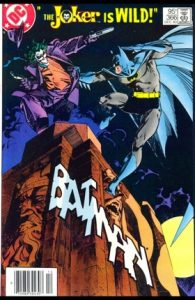 comic cover show a listing price of 95 cents and shows Batman fighting the Joker