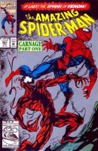 comic cover of Carnage fighting Spider-man