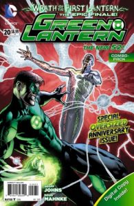 Cover of the Green Lantern fighting an enemy