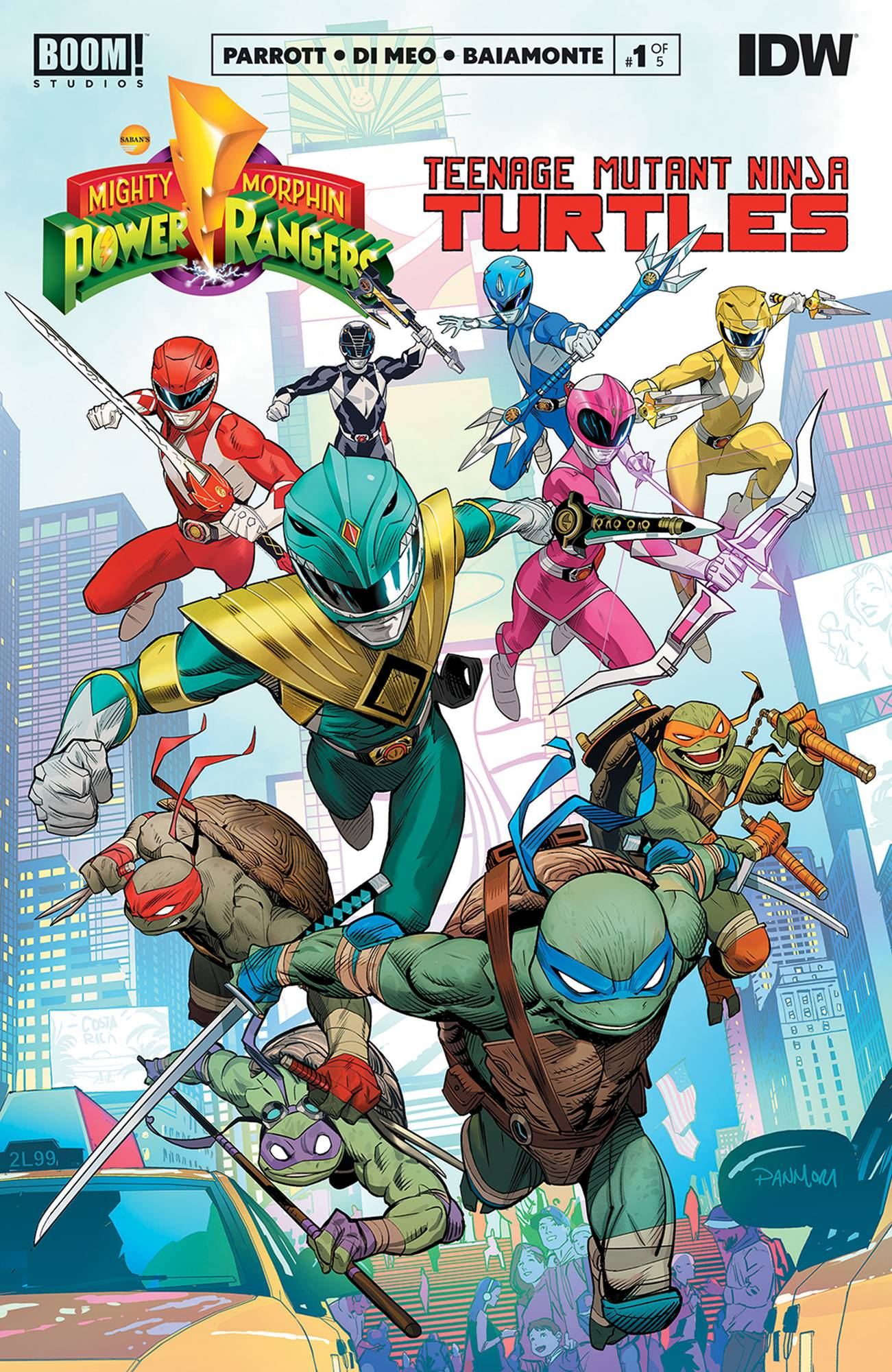 Mighty Morphin Power Rangers Teenage Mutant Ninja Turtles #1 (2019)
