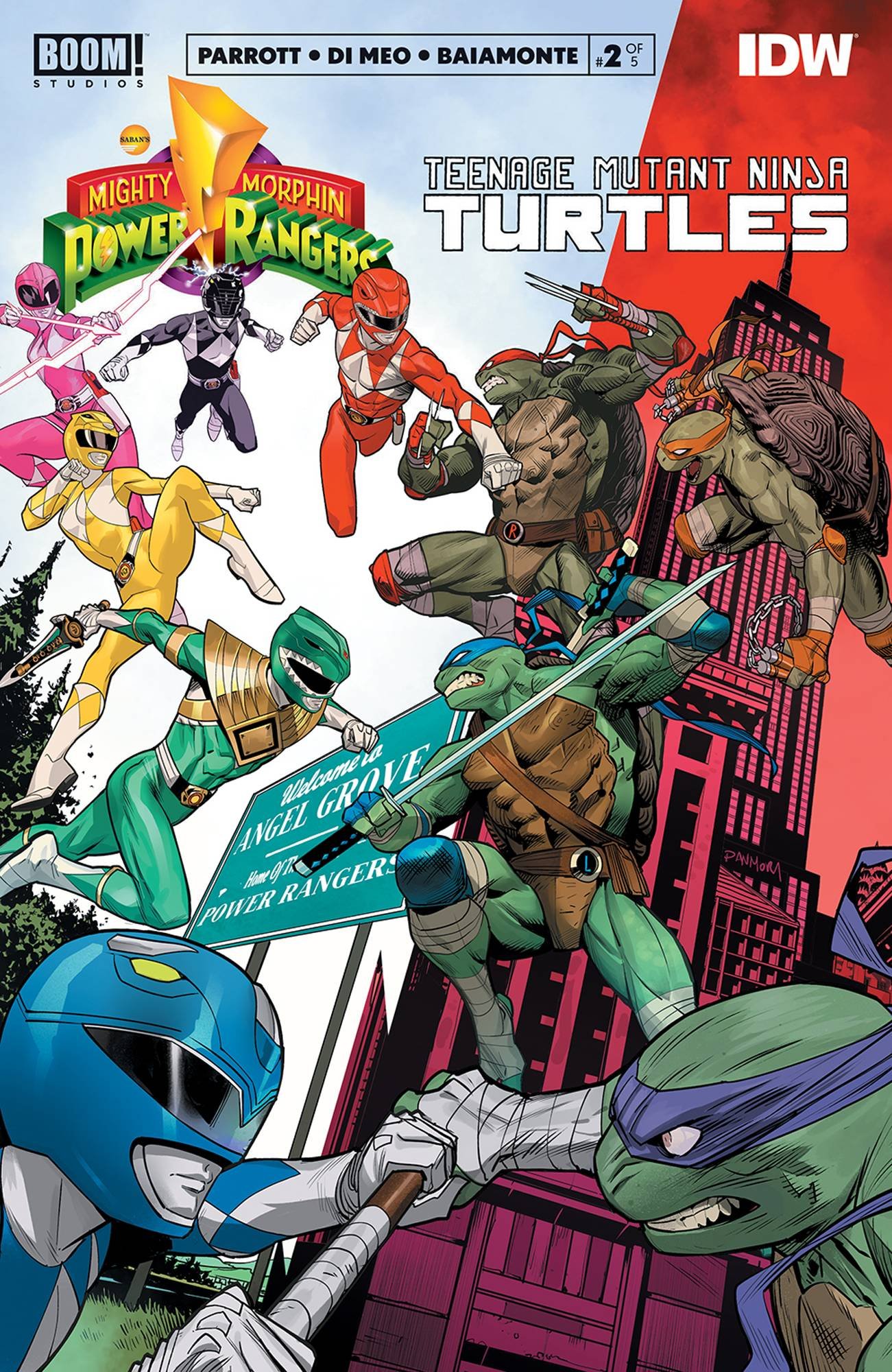 Mighty Morphin Power Rangers Teenage Mutant Ninja Turtles #2 (2020)