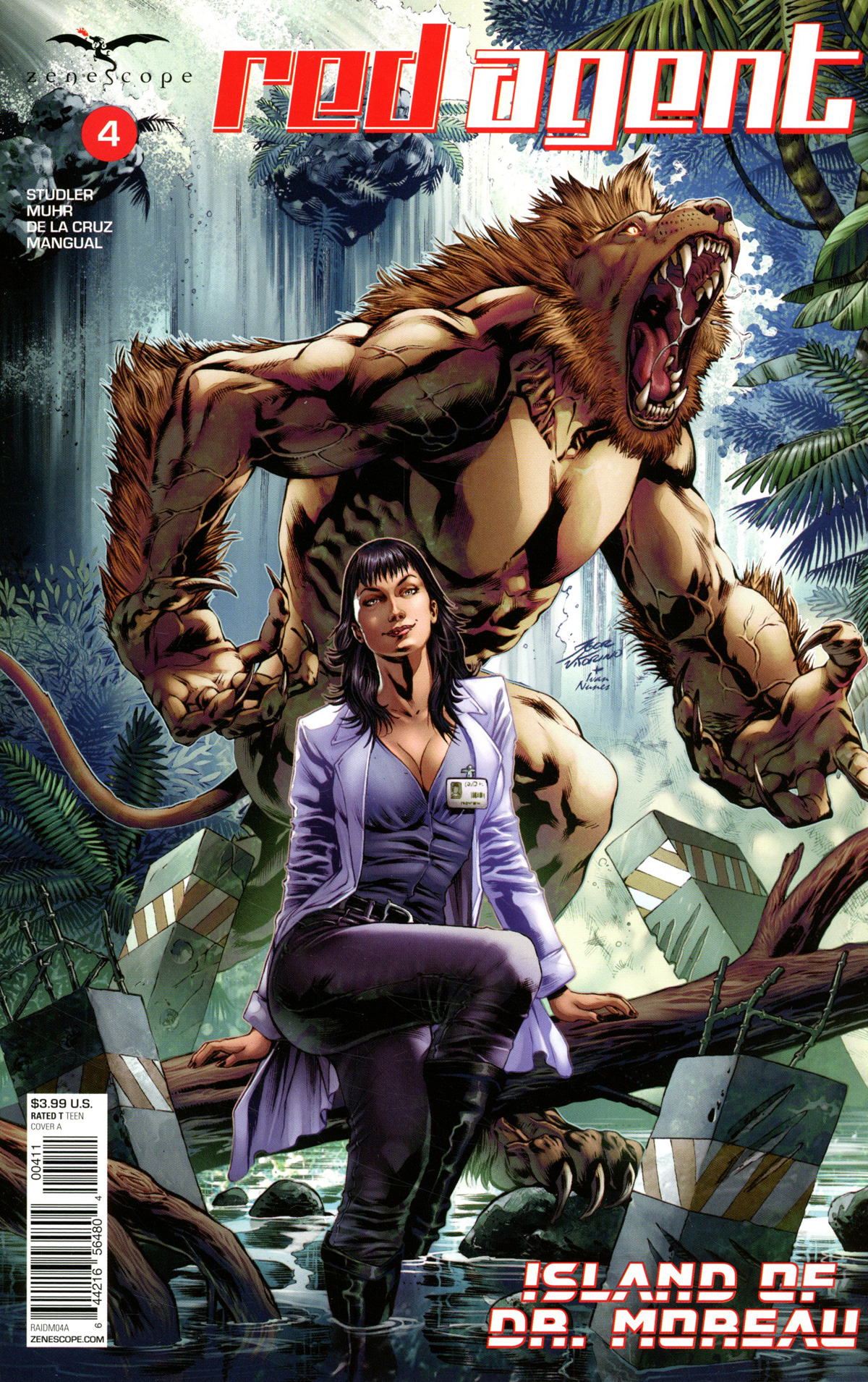 Red Agent: Island of Dr Moreau #4 (2020)